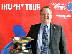 KKI President and FIBA Europe Board Member Hannes Jonsson poses with the EuroBasket trophy